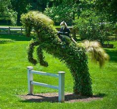 Garden Sculpture jumper with fox rider. I want the fox!