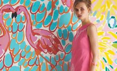 Am I brave enough to try this in my conservatory?    Google Image Result for http://www.omgimgettingmarried.com/wp-content/uploads/2011/04/Lilly-Pulitzer-Bright-Coloured-Bridesmaid-Dresses-131-450x275.jpg