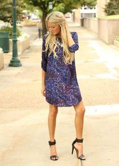 fun patterned dress
