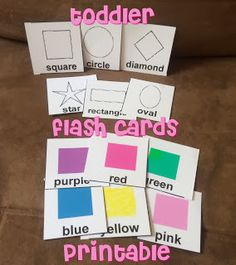DIY Toddler Flash Cards Tutorial and Printable.