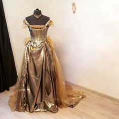 Hey, I found this really awesome Etsy listing at https://www.etsy.com/listing/227249167/cinderella-gold-dress-into-the-woods
