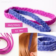 :: zweimalB :: DIY - Anleitung für ein geflochtenes Haarband aus Jersey - ganz ohne Nähen