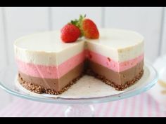 Me Super Enchanted Neapolitan Tart Without Bake and this one is fabulous poor that does not contain sugar, If you like dinos HOLA and give to Me I like it MIREN . Desserts To Make, No Bake Desserts, Dessert Recipes, Baking Recipes, My Recipes, Gelatin Recipes, Ice Cake, Latin Food, Mini Cakes