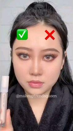 Face Makeup Tips, Makeup And Beauty Blog, Makeup Eye Looks, Contour Makeup, Eyebrow Makeup, Skin Makeup, Makeup Hacks, Contouring, Makeup Brushes