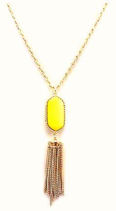 Jewelry - Yellow Pendant Tassel Necklace