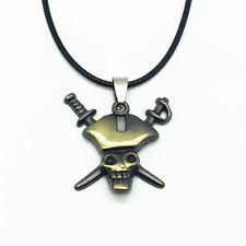 Unique Jewelry - Men'S Fashion Jewelry Charm Bronze Pirates Pendant Black Leather Necklace New #1