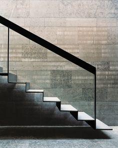 Treppe im Dom zu Skara, AIX Arkitekter Interior Staircase, Exterior Stairs, Stairs Architecture, Staircase Design, Architecture Details, Steel Balustrade, Glass Balustrade, Glass Stairs, Concrete Stairs