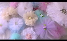Decorations:: Boy-Baby Shower Tulle Bows For Candy/Snack Table And Can a Use As Hanging Decor.