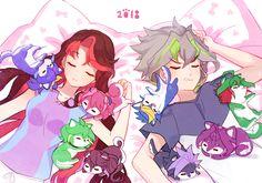 Serena, Ray, Yuzu, Rin, Ruri, Yugo, Zarc, Yuya, Yuri and Yuto