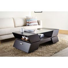 Shop for Furniture of America Anjin Enzo Contemporary Two-tone Multi-storage Coffee Table. Get free shipping at Overstock.com - Your Online Furniture Outlet Store! Get 5% in rewards with Club O! - 15922789