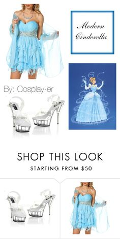 """Modern Cinderella cosplay"" by cosplay-er ❤ liked on Polyvore featuring modern"