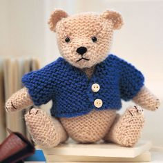 Try our teddy bear knitting pattern prima.co.uk