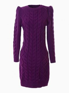 Longline Cable Knitted Dress - Choies.com