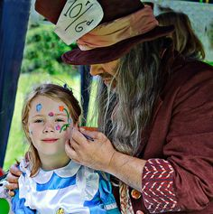 Tea Party, Mad Hatters Tea Party, face painting at the Dorothy Clive Garden in Staffordshire