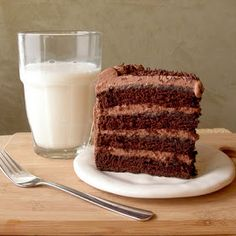 Yummy homemade chocolate cake with chocolates whipped cream frosting.