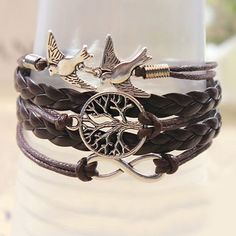 Retro Handmade Weaved Bird Bracelets