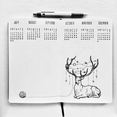 Image result for calendar drawing journal