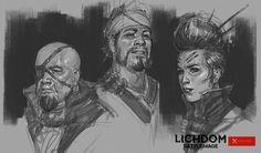 Character Heads, John Grello on ArtStation at https://www.artstation.com/artwork/character-heads