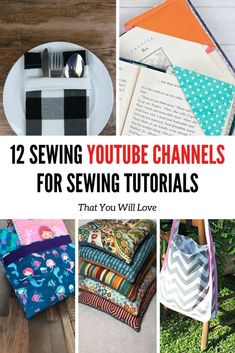 Youtube is a great place to start your sewing journey. We bring you our favorite 12 Sewing Youtube Channels For Sewing Tutorials That You Will Love! Learn how to make your own clothes, upcycle old ones, and even learn basic and advanced techniques from these great sewing channels. Be sure to check out all our sewing tutorials at happiestcamper.com! sewing. youtube sewing. 12 Sewing Youtube Channels For Sewing Tutorials That You Will Love Modern Sewing Projects, Christmas Sewing Projects, Sewing Projects For Beginners, Fun Projects, Baby Sewing Tutorials, Quilting Tutorials, Sewing Hacks, Sewing Crafts, Sewing Tips