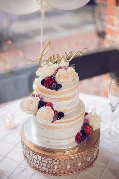Nikki + Joshua | New Orleans, LA wedding photographer | Groom throws a surprise wedding for his bride!! #cake #weddingcake #nakedcake naked cake, fruit cake, wedding cake