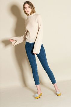 Girls' Clothing (newborn-5t) New George Pink Ribbed Roll Neck Jumper And Denim Jeggings 1-1 1/2