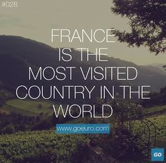 France is the most visited country in the world. #traveltrivia