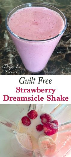 This Strawberry Dreamsicle Shake is a favorite breakfast or snack recipes. It's guilt free, 5 ingredients and packed full of protein and energy!