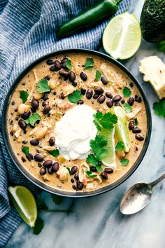 Crockpot Green Chile Chicken Enchilada Soup  - Delish.com