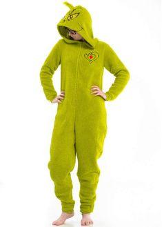 Juniors  Hooded Grinch One-Piece Pajamas e5f2e1eb9