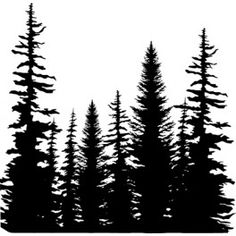 "Motivstempel Cover-a-Card ""Pine Trees"""