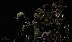 FNAF 3- phantom animatronics by LadyFiszi on DeviantArt