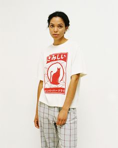 Tee Cat - Ivory Red