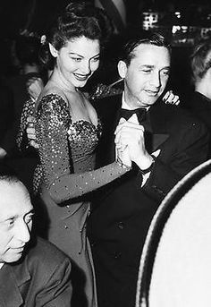 Ava Gardner dancing with director Mervyn LeRoy at the Mocambo nightclub, 1948