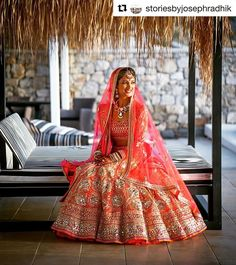 This stunning red and gold lehenga! The ultimate guide for the Indian Bride to plan her dream wedding. Witty Vows shares things no one tells brides, covers real weddings, ideas, inspirations, design trends and the right vendors, candid photographers etc. #IndianWedding #wedding #lehenga #ideas | Captured by Joseph Radhik | Curated by Witty Vows - The ultimate guide for the Indian Bride | www.wittyvows.com 1 save