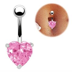 Pink Austrian Crystal Belly Ring