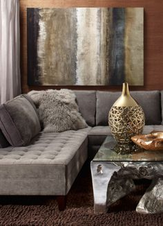 Fall Color Palette: mix warm shades with metals to create a room of soft contrast.