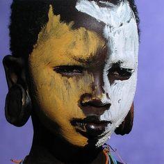 Africa.  Portrait of a Surma girl.  Omo Valley. Ethiopia //  © Dos & Bertie Winkel
