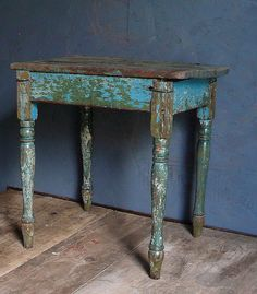 Antique Primitive Stool Bench Side Table by lamanastronaut on Etsy, $85.00