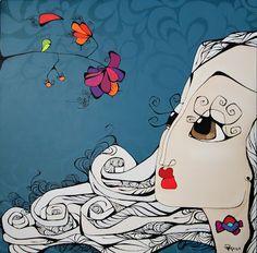 """Obra: """"...y el viento le dio una idea"""" De: Mora Fiaño www.moracuadros.com.ar"""