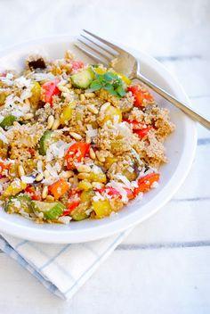 Q.C.ne: Cous cous di farro con verdure, pinoli e pecorino ...