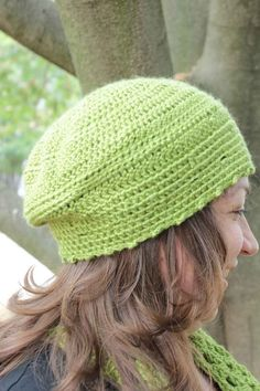 Crochet Hat Cap in Green Bamboo Blend  Women's by woodstreamdream #ecofriendly #etsy #woodstreamdream #crochet #fallfashion