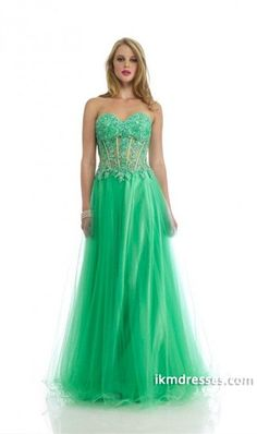 http://www.ikmdresses.com/2014-Sweetheart-A-Line-Tulle-Prom-Dress-Appliqued-Bodice-Beaded-Floor-Length-p83058