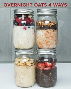 Overnight Oats 4 Ways