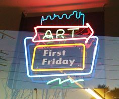 In downtown Las Vegas the first Friday of the month.  Artists, food, music, people watching, crafts and so much more.  It starts in the evening when it is cooler outside.