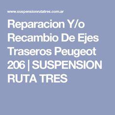 Reparacion Y/o Recambio De Ejes Traseros Peugeot 206 | SUSPENSION RUTA TRES
