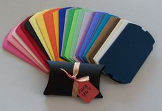 100 Assorted Color Pillow Boxes. Starting at $20 on Tophatter.com!
