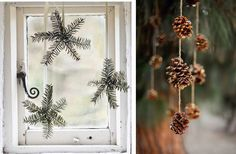 Love these natural Christmas Decorations - in Swedish? Swedish Christmas, Natural Christmas, Scandinavian Christmas, Christmas Holidays, Christmas Wreaths, Christmas Crafts, Christmas Decorations, Xmas, Advent