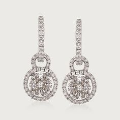 Simon G. 1.21 Carat Total Weight Diamond and 18-Karat White Gold Earrings (488235) | Sidney Thomas