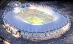 Castelão Arena, designed by Vigliecca & Associados, is the most economical arena in the last four World Cups and the first one in South America to receive a LEED Certification. #architecture #interior #worldcup2014 #Brazil #FIFA #design