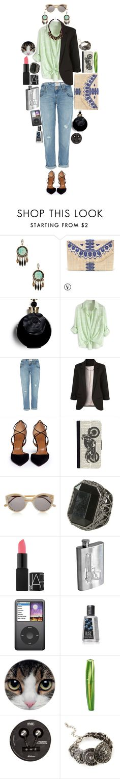 """Strangers passing by"" by lisettesgoodintent ❤ liked on Polyvore featuring Lionette, Stella & Dot, Valentino, River Island, Aquazzura, CellPowerCases, Illesteva, Wet Seal, NARS Cosmetics and Dot & Bo"